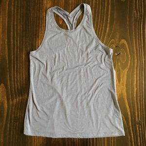 Athleta Gray Razorback Tank Top